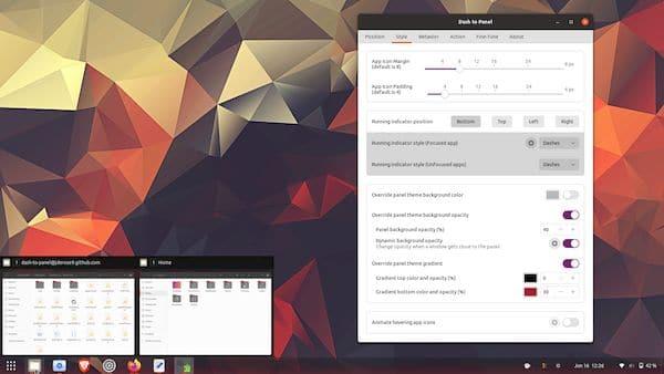 Dash to Panel 43 lançado com suporte GNOME 40 e correções de bugs