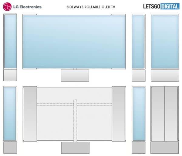 LG poderá lançar um modelo de TV com rolagem horizontal