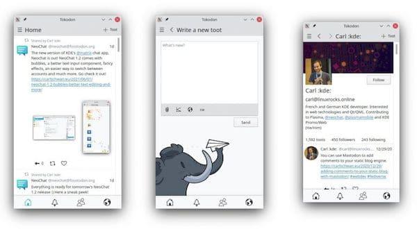 Plasma Mobile ganhou melhorias no shell e na tela inicial e atualizações de apps