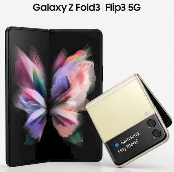 Veja como será o Samsung Galaxy Z Flip3 5G e Galaxy Z Fold3 5G