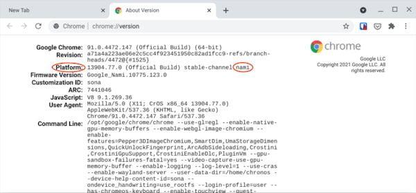 Alguns Chromebooks ficam mais lentos devido à atualização mais recente (91.0.4472.147)