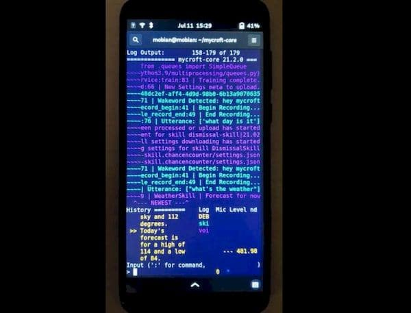 Assistente de voz Mycroft já funciona nos smartphones PinePhone