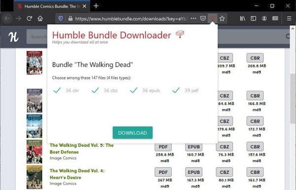 Como fazer download em massa de compras de ebooks do HumbleBundle