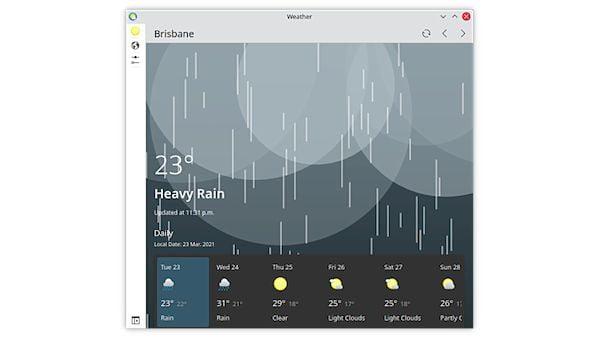 Como instalar o app de previsão do tempo Weather no Linux via Flatpak