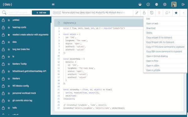 Como instalar o gerenciador de snippet de código Gisto no Linux via Snap