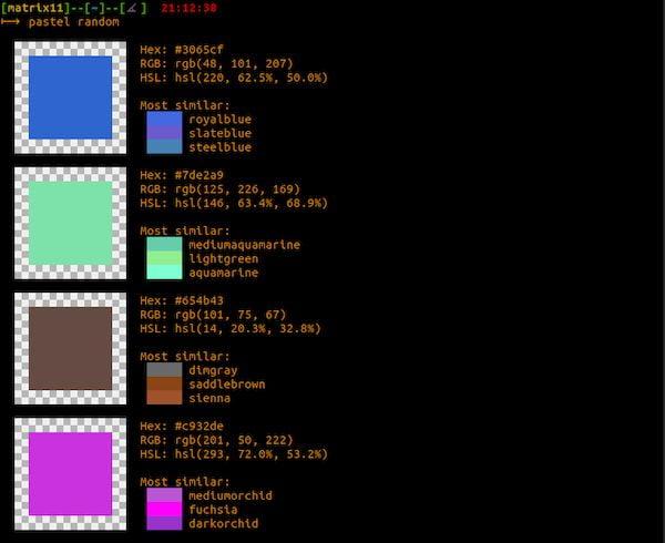 Como instalar o utilitário de cores pastel no Linux via Snap