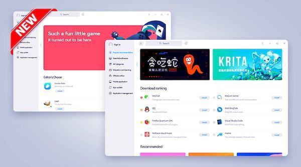 Deepen também lançou uma loja com suporte a aplicativos Android