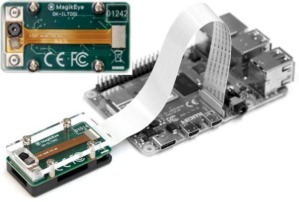 DK-ILT001 para Raspberry Pi permite detecção 3D de 120 fps por meio de um laser infravermelho