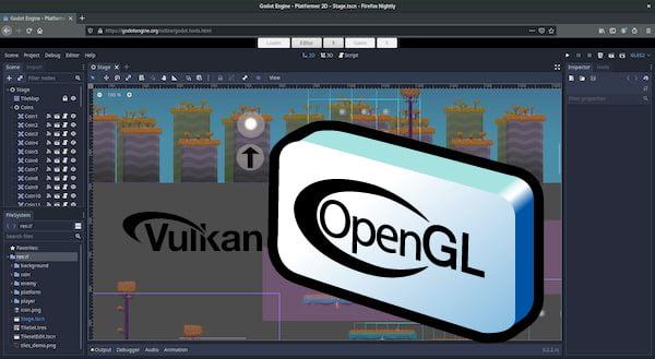 OpenGL provavelmente estará pronto no Godot 4.1
