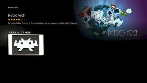 RetroArch também está disponível na Amazon Appstore