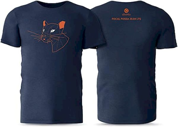 Ubuntu se prepara para vender camisetas com suas mascotes, começando com Focal Fossa