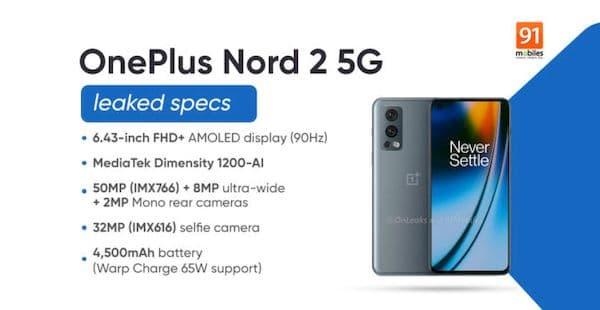 Vazamentos do OnePlus Nord 2 revelam todas as especificações e opções de cores