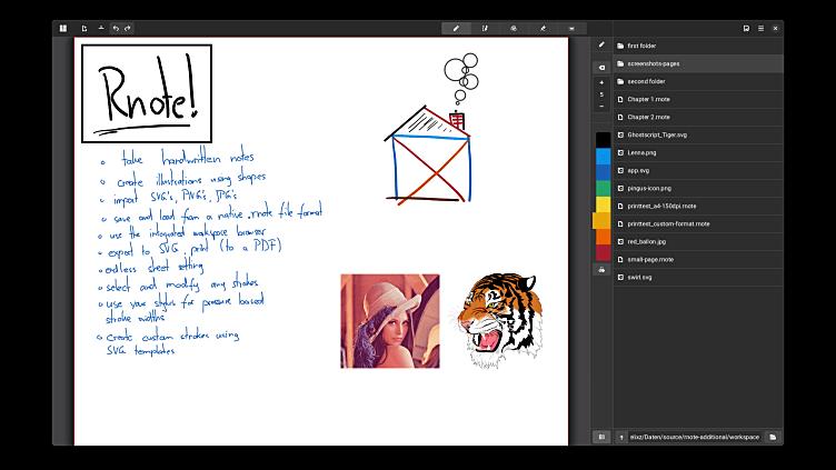 Como instalar o aplicativo de anotações Rnote no Linux via Flatpak