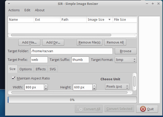 Como instalar o Simple Image Resizer no Ubuntu